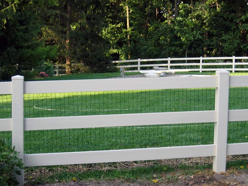 3 Rail Pvc Ranch Rail With Liner