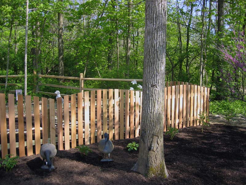 Conved Cedar With Split Rail