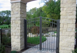 Bronze Arched Double Gate
