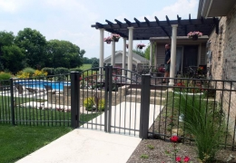 Ultra 200 Arched Double Gates Satin Bronze