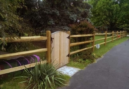 Treated Split rail with gate