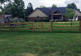 Pressure Treated Split Rail with Liner