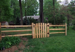 Rail Split Rail and Gate